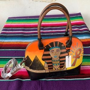 new Custom painted BCBG bag with removable strap